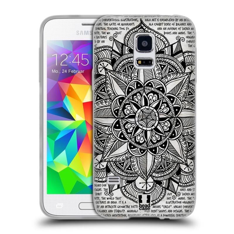 Silikonové pouzdro na mobil Samsung Galaxy S5 Mini HEAD CASE Mandala Doodle Paper (Silikonový kryt či obal na mobilní telefon Samsung Galaxy S5 Mini SM-G800F)