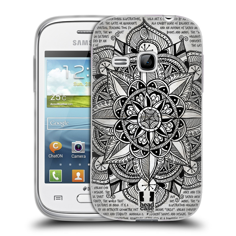 Silikonové pouzdro na mobil Samsung Galaxy Young HEAD CASE Mandala Doodle Paper (Silikonový kryt či obal na mobilní telefon Samsung Galaxy Young GT-S6310)