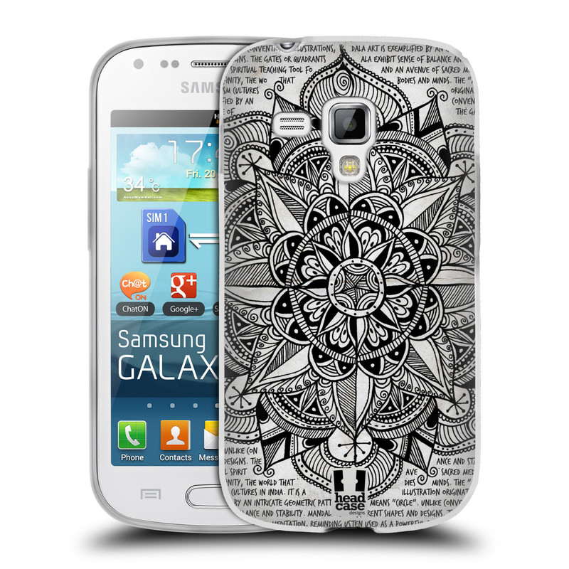 Silikonové pouzdro na mobil Samsung Galaxy Trend Plus HEAD CASE Mandala Doodle Paper (Silikonový kryt či obal na mobilní telefon Samsung Galaxy Trend Plus GT-S7580)