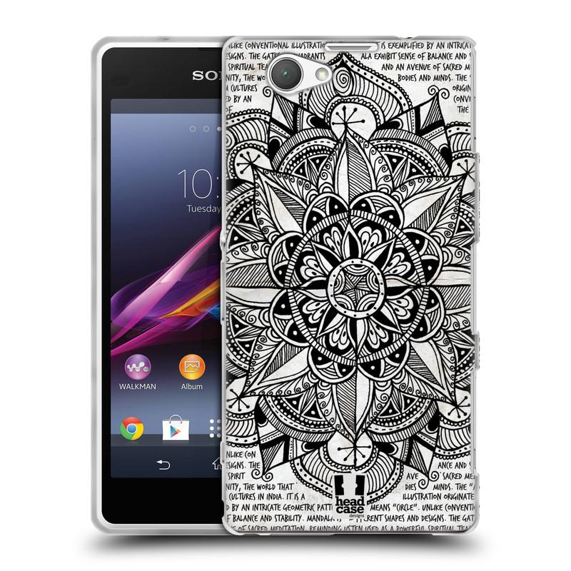 Silikonové pouzdro na mobil Sony Xperia Z1 Compact D5503 HEAD CASE Mandala Doodle Paper (Silikonový kryt či obal na mobilní telefon Sony Xperia Z1 Compact)