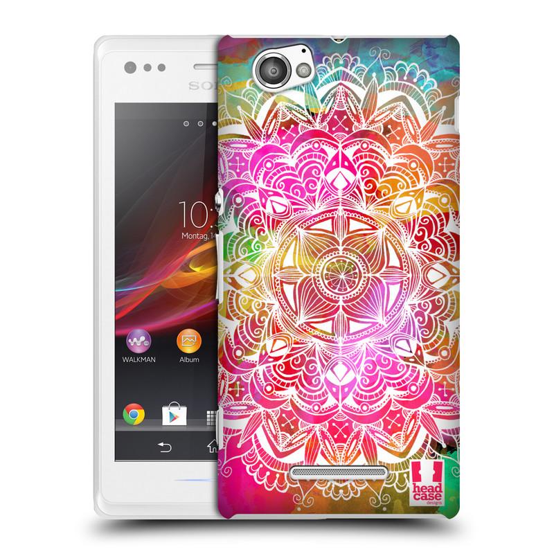 Plastové pouzdro na mobil Sony Xperia M C1905 HEAD CASE Mandala Doodle Watercolour (Kryt či obal na mobilní telefon Sony Xperia M )