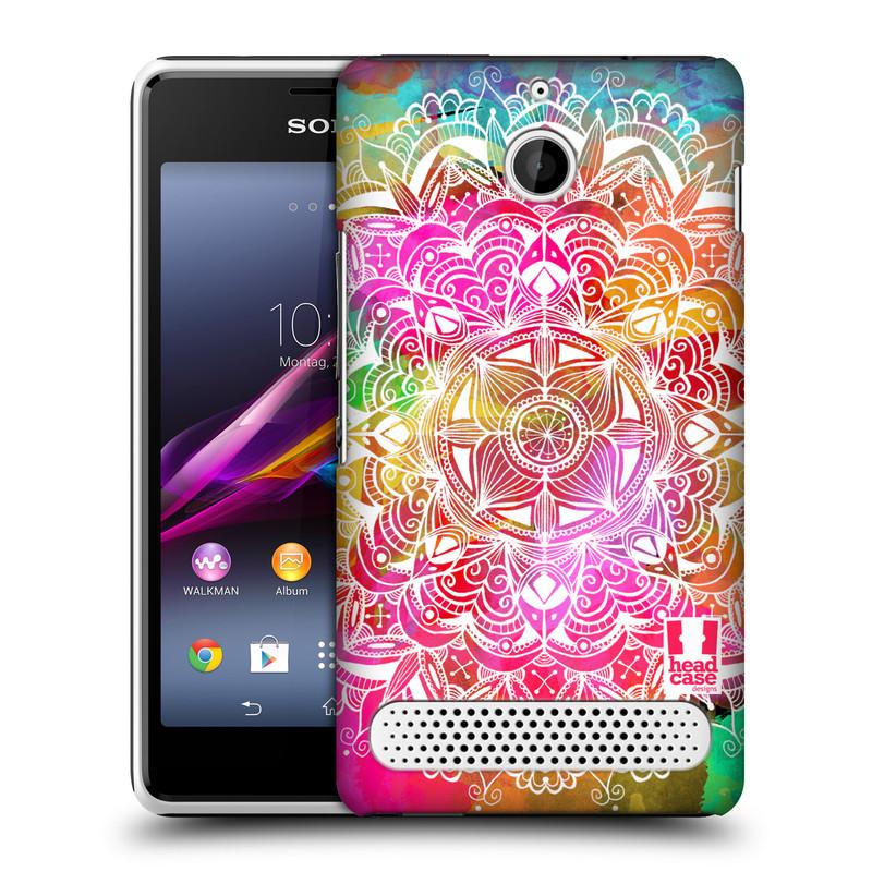 Plastové pouzdro na mobil Sony Xperia E1 D2005 HEAD CASE Mandala Doodle Watercolour (Kryt či obal na mobilní telefon Sony Xperia E1 a E1 Dual)