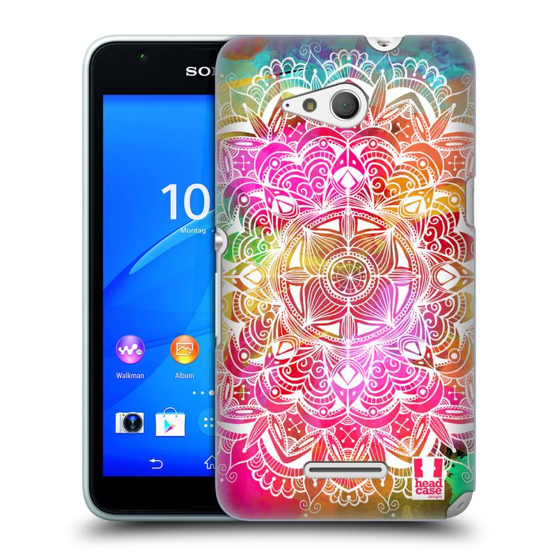 Plastové pouzdro na mobil Sony Xperia E4g E2003 HEAD CASE Mandala Doodle Watercolour (Kryt či obal na mobilní telefon Sony Xperia E4g a E4g Dual SIM)