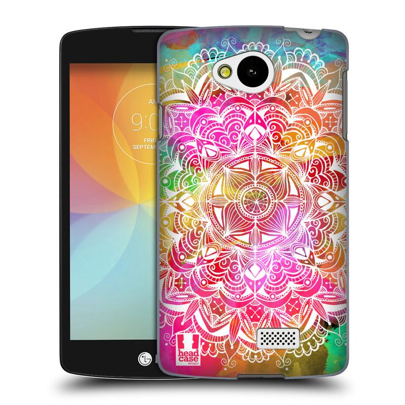 Plastové pouzdro na mobil LG F60 HEAD CASE Mandala Doodle Watercolour (Kryt či obal na mobilní telefon LG F60 D390n)