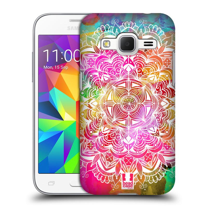 Plastové pouzdro na mobil Samsung Galaxy Core Prime LTE HEAD CASE Mandala Doodle Watercolour (Kryt či obal na mobilní telefon Samsung Galaxy Core Prime LTE SM-G360)