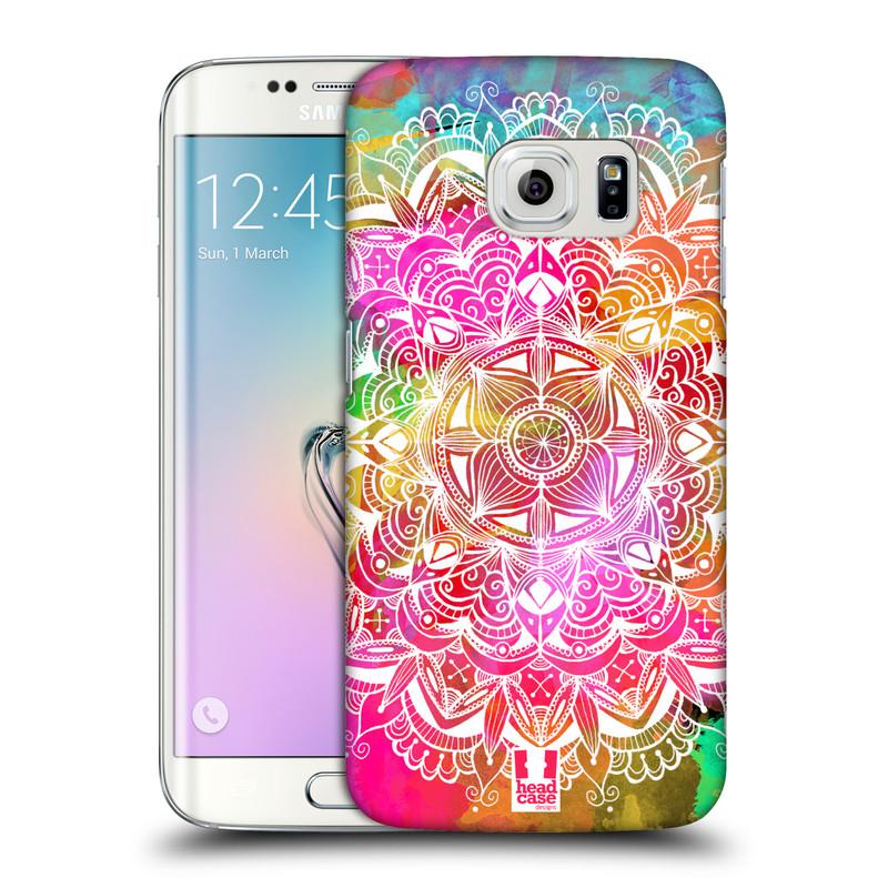 Plastové pouzdro na mobil Samsung Galaxy S6 Edge HEAD CASE Mandala Doodle Watercolour (Kryt či obal na mobilní telefon Samsung Galaxy S6 Edge SM-G925F)