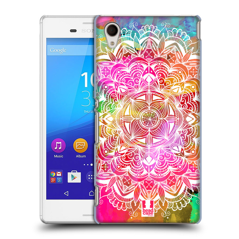 Plastové pouzdro na mobil Sony Xperia M4 Aqua E2303 HEAD CASE Mandala Doodle Watercolour (Kryt či obal na mobilní telefon Sony Xperia M4 Aqua a M4 Aqua Dual SIM)