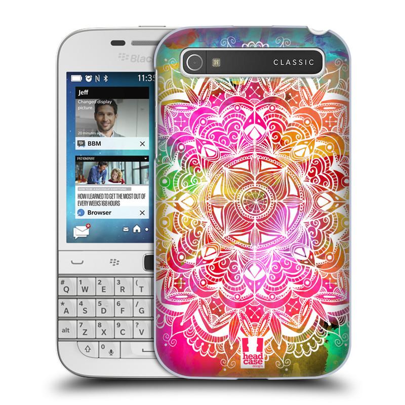 Plastové pouzdro na mobil Blackberry Classic HEAD CASE Mandala Doodle Watercolour (Kryt či obal na mobilní telefon Blackberry Classic)