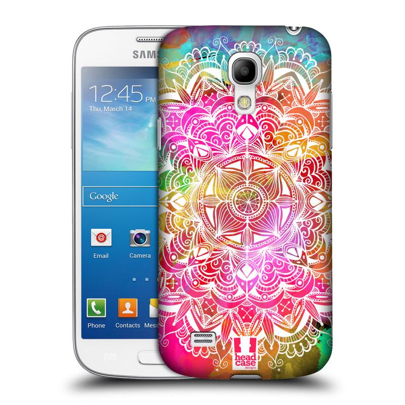 Plastové pouzdro na mobil Samsung Galaxy S4 Mini HEAD CASE Mandala Doodle Watercolour (Kryt či obal na mobilní telefon Samsung Galaxy S4 Mini GT-i9195 / i9190)