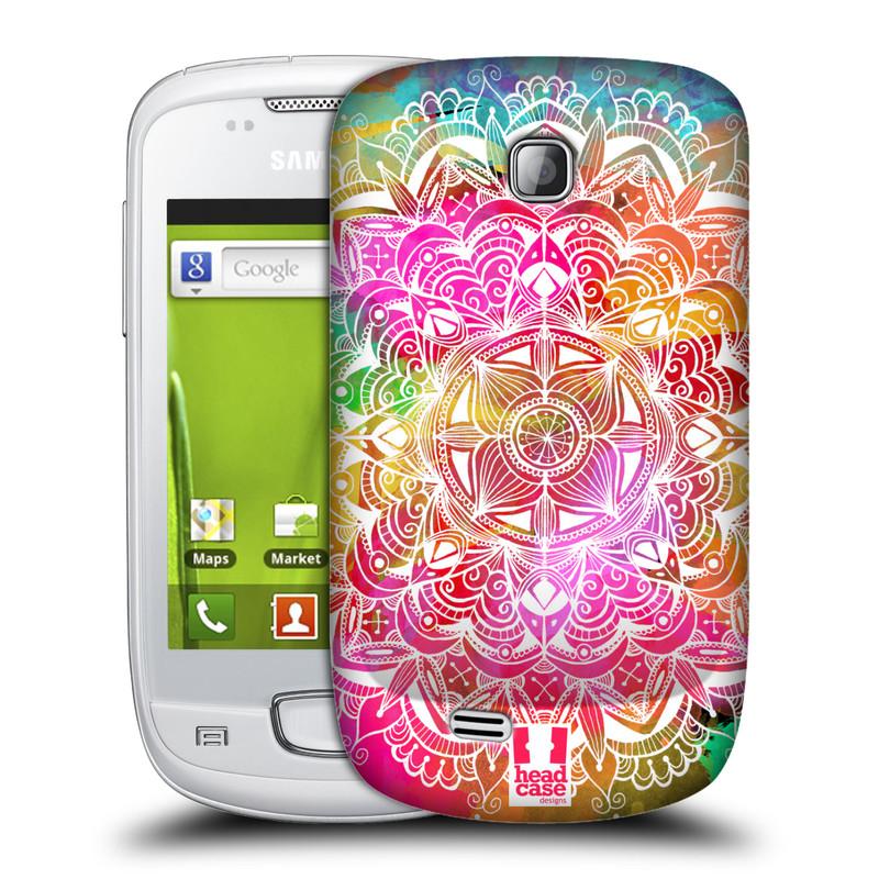 Plastové pouzdro na mobil Samsung Galaxy Mini HEAD CASE Mandala Doodle Watercolour (Kryt či obal na mobilní telefon Samsung Galaxy Mini GT-S5570 / GT-S5570i)