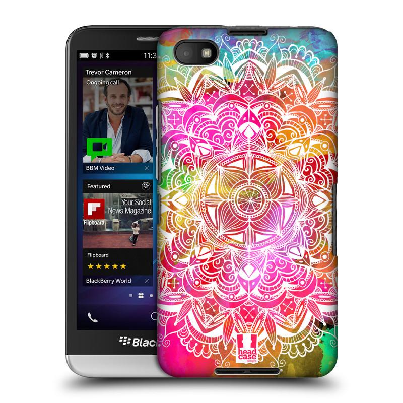 Plastové pouzdro na mobil Blackberry Z30 HEAD CASE Mandala Doodle Watercolour (Kryt či obal na mobilní telefon Blackberry Z30)