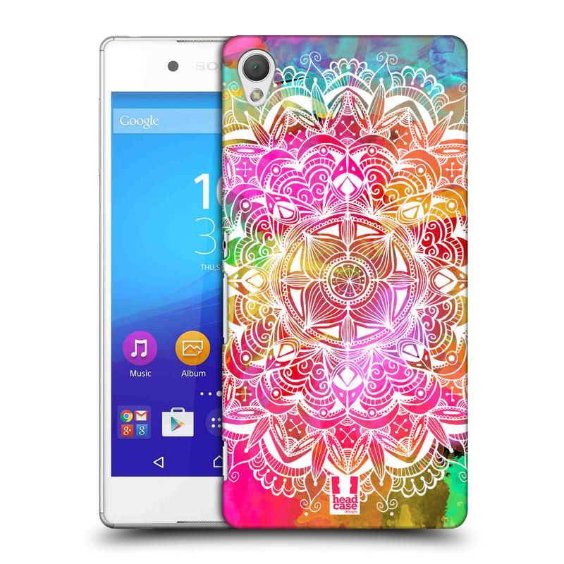 Plastové pouzdro na mobil Sony Xperia Z3+ (Plus) HEAD CASE Mandala Doodle Watercolour (Kryt či obal na mobilní telefon Sony Xperia Z3+ a Sony Xperia Z4 )