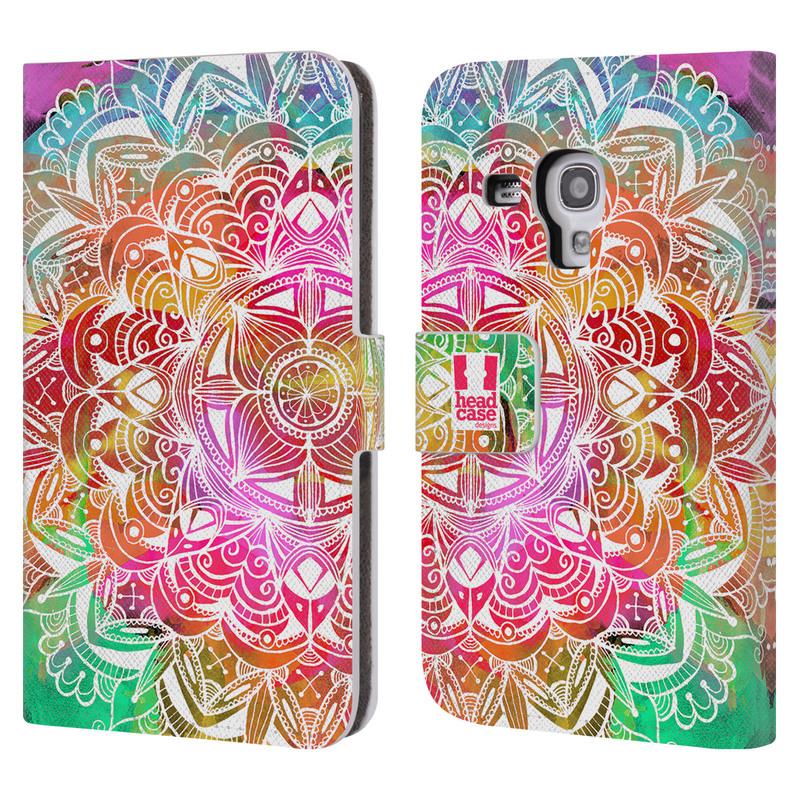 Flipové pouzdro na mobil Samsung Galaxy S III Mini HEAD CASE Mandala Doodle Watercolour (Flipový vyklápěcí kryt či obal z umělé kůže na mobilní telefon Samsung Galaxy S III Mini GT-I8190)