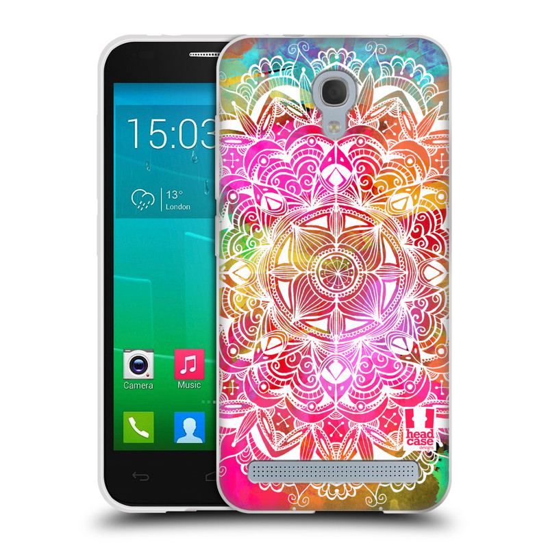 Silikonové pouzdro na mobil Alcatel One Touch Idol 2 Mini S 6036Y HEAD CASE Mandala Doodle Watercolour (Silikonový kryt či obal na mobilní telefon Alcatel Idol 2 Mini S OT-6036Y)