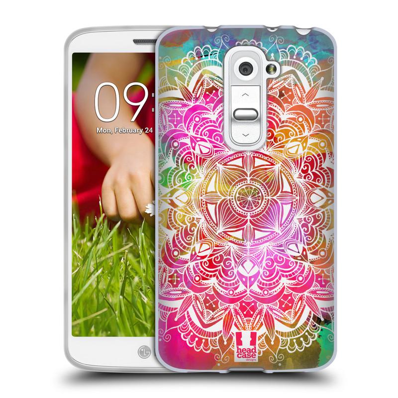 Silikonové pouzdro na mobil LG G2 Mini HEAD CASE Mandala Doodle Watercolour (Silikonový kryt či obal na mobilní telefon LG G2 Mini D620)