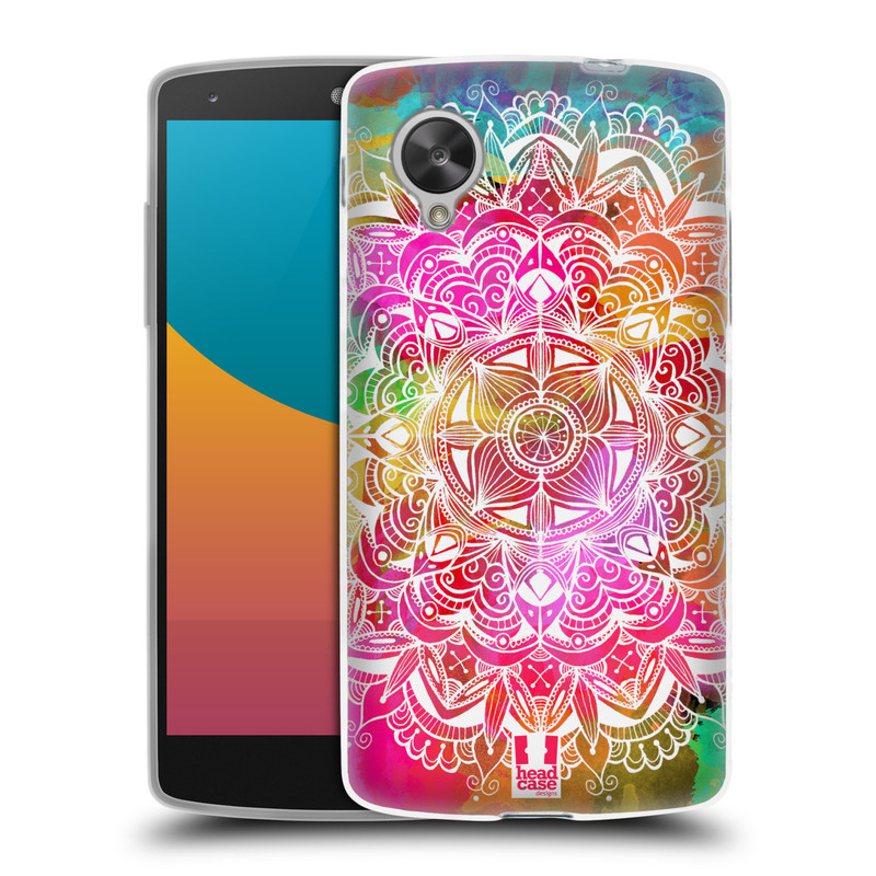 Silikonové pouzdro na mobil LG Nexus 5 HEAD CASE Mandala Doodle Watercolour (Silikonový kryt či obal na mobilní telefon LG Google Nexus 5 D821)