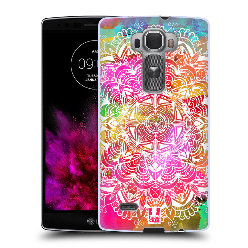 Silikonové pouzdro na mobil LG G Flex 2 HEAD CASE Mandala Doodle Watercolour (Silikonový kryt či obal na mobilní telefon LG G Flex 2 H955)