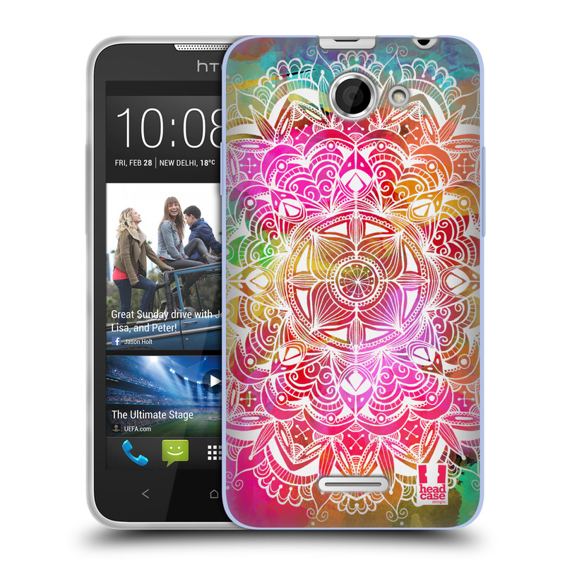 Silikonové pouzdro na mobil HTC Desire 516 HEAD CASE Mandala Doodle Watercolour (Silikonový kryt či obal na mobilní telefon HTC Desire 516 Dual SIM)