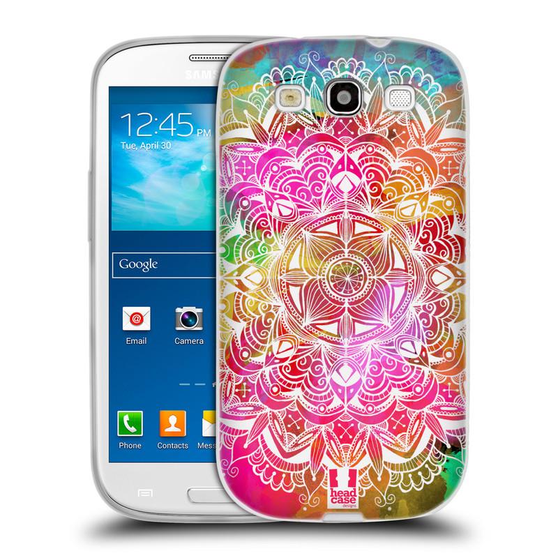 Silikonové pouzdro na mobil Samsung Galaxy S3 Neo HEAD CASE Mandala Doodle Watercolour (Silikonový kryt či obal na mobilní telefon Samsung Galaxy S3 Neo GT-i9301i)