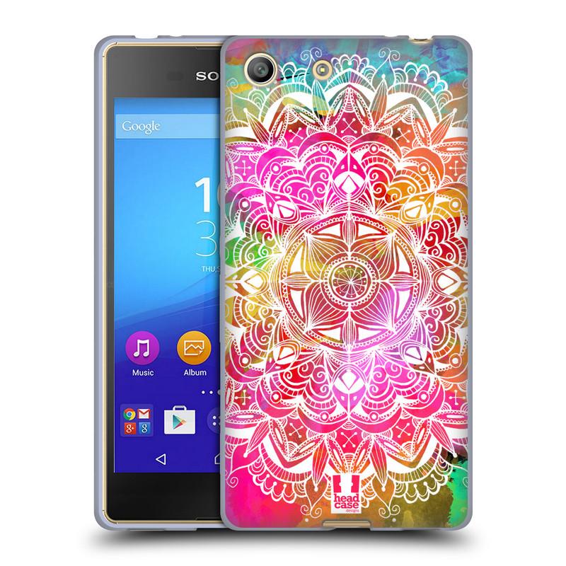 Silikonové pouzdro na mobil Sony Xperia M5 HEAD CASE Mandala Doodle Watercolour (Silikonový kryt či obal na mobilní telefon Sony Xperia M5 Dual SIM / Aqua)