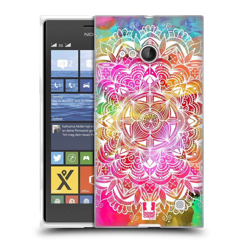 Silikonové pouzdro na mobil Nokia Lumia 730 Dual SIM HEAD CASE Mandala Doodle Watercolour (Silikonový kryt či obal na mobilní telefon Nokia Lumia 730 Dual SIM)