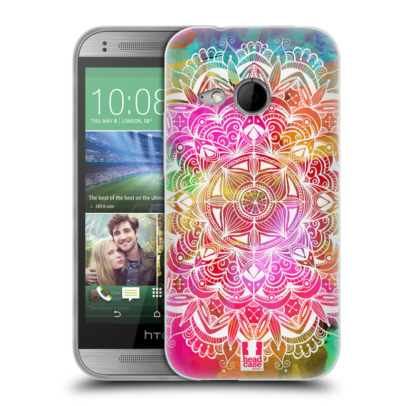 Silikonové pouzdro na mobil HTC ONE Mini 2 HEAD CASE Mandala Doodle Watercolour (Silikonový kryt či obal na mobilní telefon HTC ONE Mini 2)