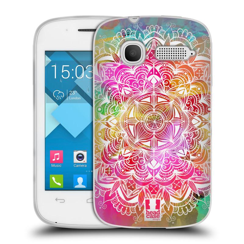 Silikonové pouzdro na mobil Alcatel One Touch Pop C1 HEAD CASE Mandala Doodle Watercolour (Silikonový kryt či obal na mobilní telefon Alcatel OT-4015D POP C1)