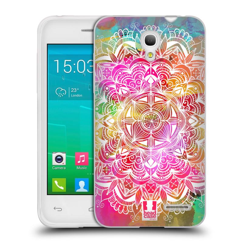 Silikonové pouzdro na mobil Alcatel One Touch Pop S3 HEAD CASE Mandala Doodle Watercolour (Silikonový kryt či obal na mobilní telefon Alcatel OT- 5050Y POP S3)