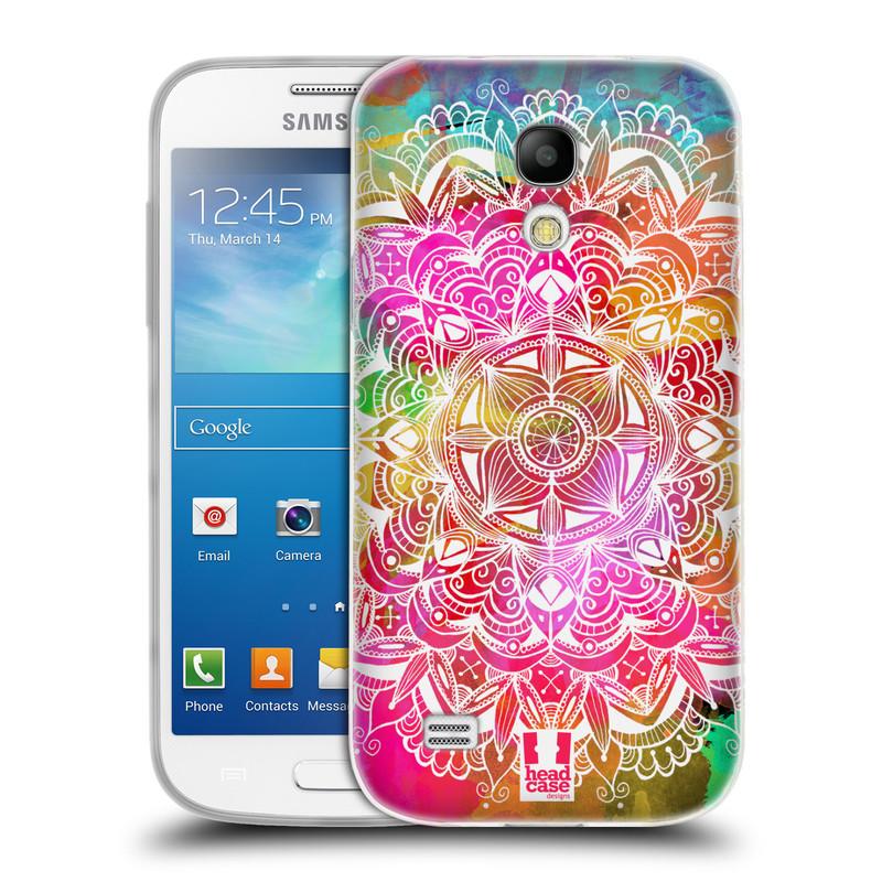 Silikonové pouzdro na mobil Samsung Galaxy S4 Mini HEAD CASE Mandala Doodle Watercolour (Silikonový kryt či obal na mobilní telefon Samsung Galaxy S4 Mini GT-i9195 / i9190)