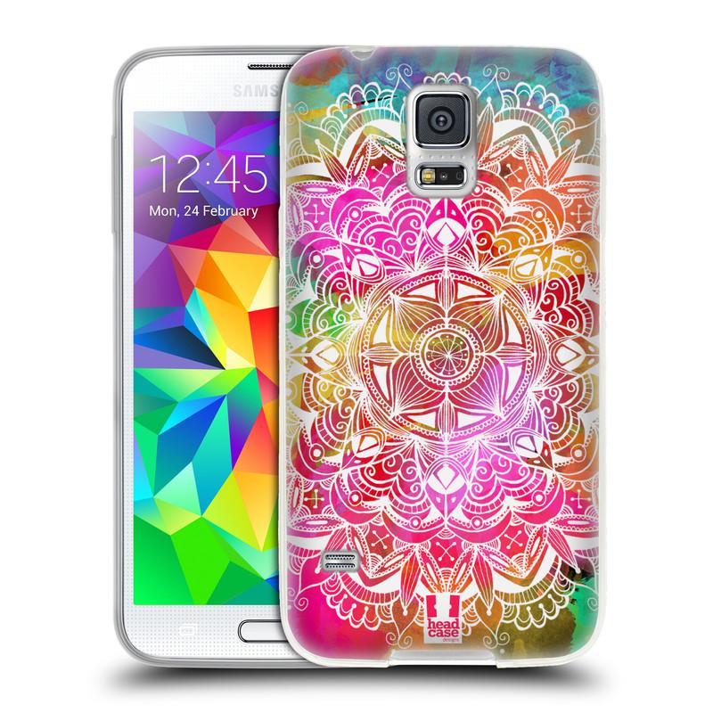 Silikonové pouzdro na mobil Samsung Galaxy S5 HEAD CASE Mandala Doodle Watercolour (Silikonový kryt či obal na mobilní telefon Samsung Galaxy S5 SM-G900F)