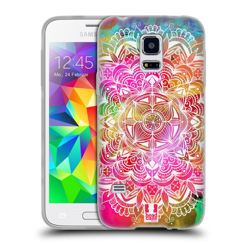 Silikonové pouzdro na mobil Samsung Galaxy S5 Mini HEAD CASE Mandala Doodle Watercolour (Silikonový kryt či obal na mobilní telefon Samsung Galaxy S5 Mini SM-G800F)