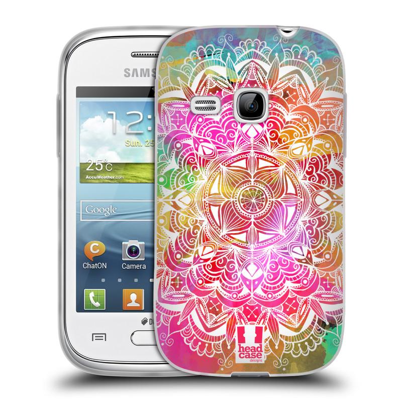 Silikonové pouzdro na mobil Samsung Galaxy Young HEAD CASE Mandala Doodle Watercolour (Silikonový kryt či obal na mobilní telefon Samsung Galaxy Young GT-S6310)