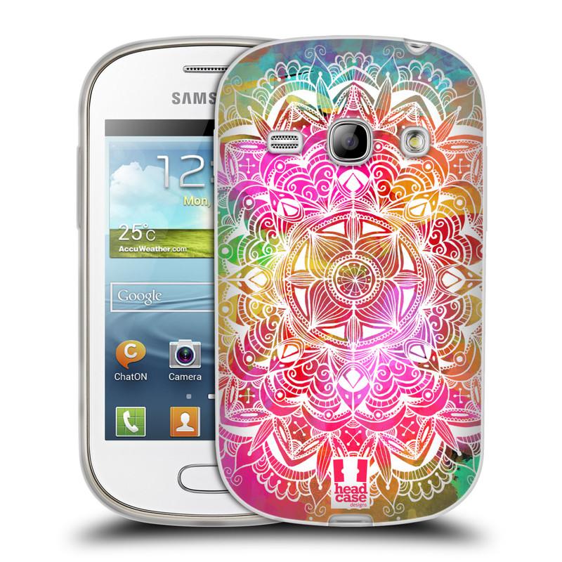 Silikonové pouzdro na mobil Samsung Galaxy Fame HEAD CASE Mandala Doodle Watercolour (Silikonový kryt či obal na mobilní telefon Samsung Galaxy Fame GT-S6810)