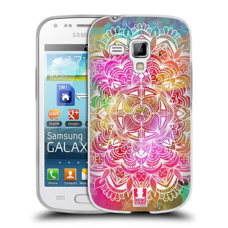 Silikonové pouzdro na mobil Samsung Galaxy Trend Plus HEAD CASE Mandala Doodle Watercolour (Silikonový kryt či obal na mobilní telefon Samsung Galaxy Trend Plus GT-S7580)