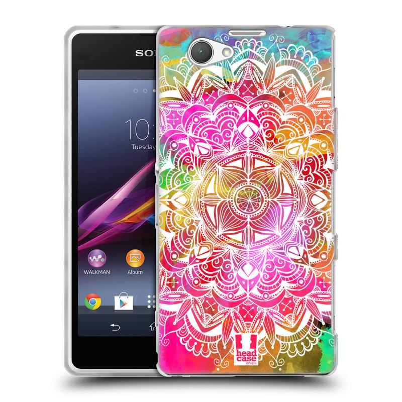 Silikonové pouzdro na mobil Sony Xperia Z1 Compact D5503 HEAD CASE Mandala Doodle Watercolour (Silikonový kryt či obal na mobilní telefon Sony Xperia Z1 Compact)