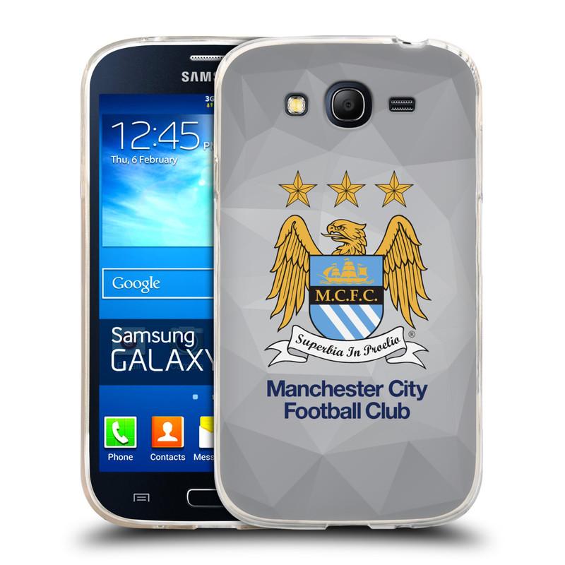 Silikonové pouzdro na mobil Samsung Galaxy Grand Neo Plus HEAD CASE Manchester City FC - Football Club (Silikonový kryt či obal na mobilní telefon s licencovaným motivem Manchester City FC pro Samsung Galaxy Grand Neo Plus Duos GT-I9060i)