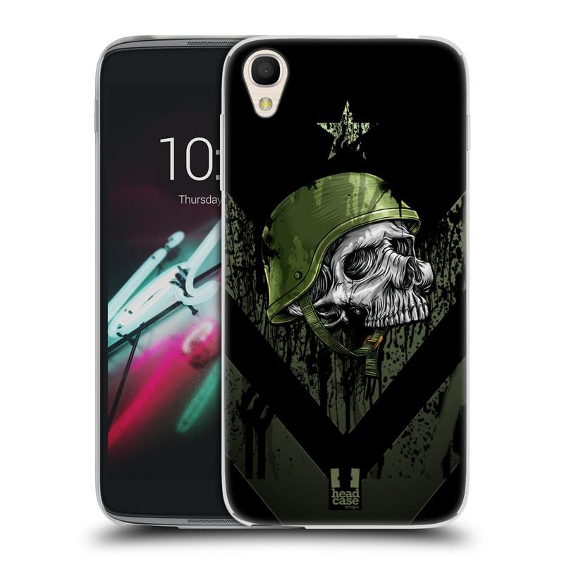 "Silikonové pouzdro na mobil Alcatel One Touch 6039Y Idol 3 HEAD CASE LEBKA ONE MAN (Silikonový kryt či obal na mobilní telefon Alcatel One Touch Idol 3 OT-6039Y s 4,7"" displejem)"