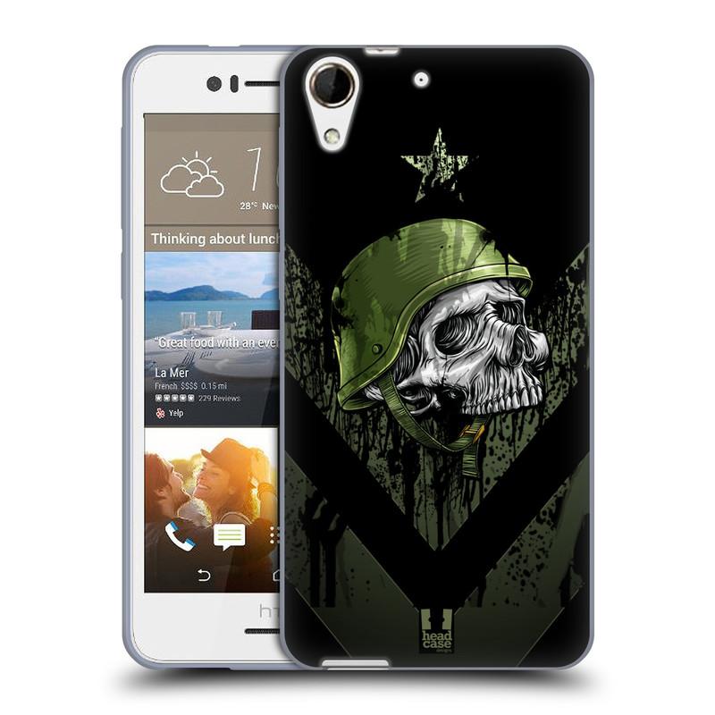 Silikonové pouzdro na mobil HTC Desire 728G Dual SIM HEAD CASE LEBKA ONE MAN (Silikonový kryt či obal na mobilní telefon HTC Desire 728 G Dual SIM)