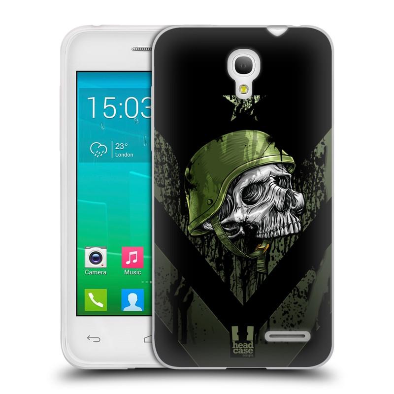 Silikonové pouzdro na mobil Alcatel One Touch Pop S3 HEAD CASE LEBKA ONE MAN (Silikonový kryt či obal na mobilní telefon Alcatel OT- 5050Y POP S3)