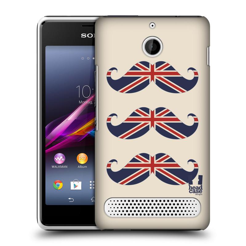 Plastové pouzdro na mobil Sony Xperia E1 D2005 HEAD CASE BRITSKÉ KNÍRY (Plastový kryt či obal na mobilní telefon Sony Xperia E1 a E1 Dual)