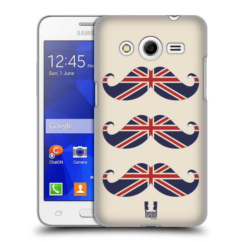 Plastové pouzdro na mobil Samsung Galaxy Core 2 HEAD CASE BRITSKÉ KNÍRY (Plastový kryt či obal na mobilní telefon Samsung Galaxy Core 2 SM-G355H)