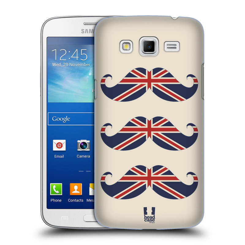 Plastové pouzdro na mobil Samsung Galaxy Grand 2 HEAD CASE BRITSKÉ KNÍRY (Plastový kryt či obal na mobilní telefon Samsung Galaxy Grand 2 LTE SM-G7105F a Samsung Galaxy Grand 2 Duos SM-G7102F)