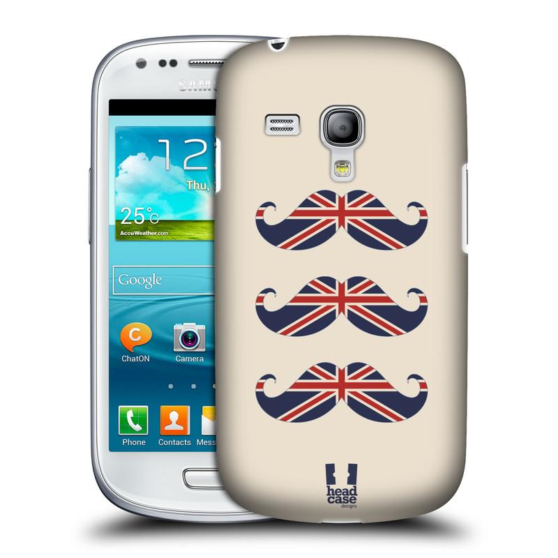 Silikonové pouzdro na mobil Samsung Galaxy S III Mini VE HEAD CASE BRITSKÉ KNÍRY (Plastový kryt či obal na mobilní telefon Samsung Galaxy S3 Mini VE GT-i8200)