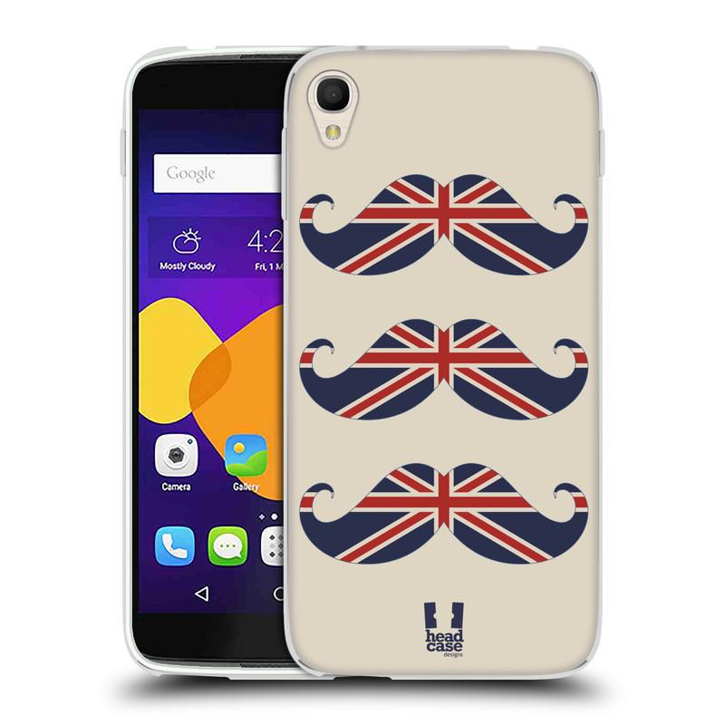Silikonové pouzdro na mobil Alcatel One Touch 6045Y Idol 3 HEAD CASE BRITSKÉ KNÍRY (Silikonový kryt či obal na mobilní telefon Alcatel One Touch Idol 3 OT-6045Y)
