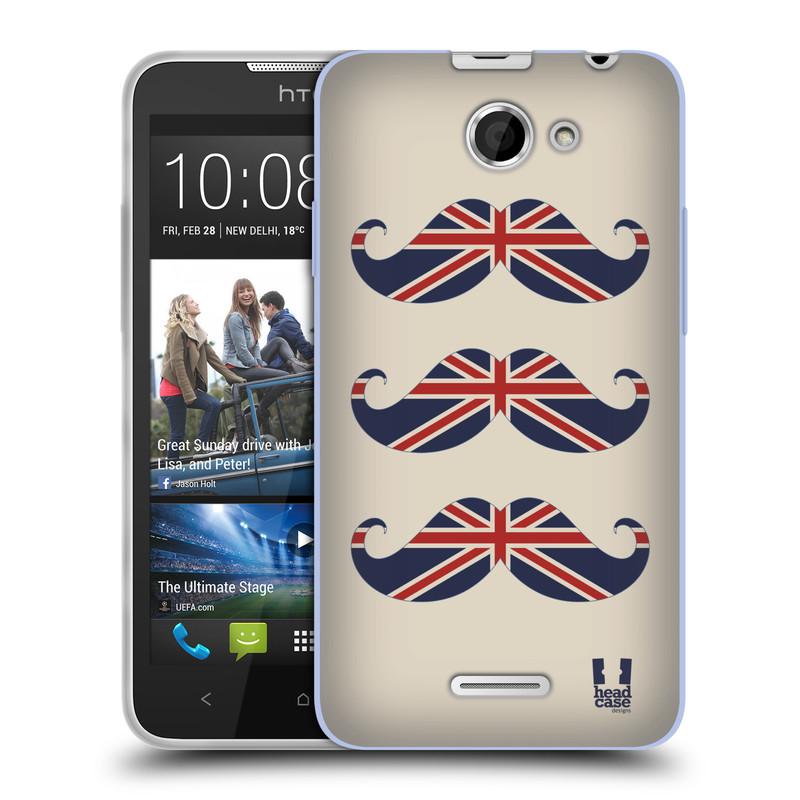 Silikonové pouzdro na mobil HTC Desire 516 HEAD CASE BRITSKÉ KNÍRY (Silikonový kryt či obal na mobilní telefon HTC Desire 516 Dual SIM)