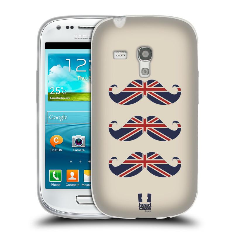 Silikonové pouzdro na mobil Samsung Galaxy S3 Mini VE HEAD CASE BRITSKÉ KNÍRY (Silikonový kryt či obal na mobilní telefon Samsung Galaxy S3 Mini VE GT-i8200)