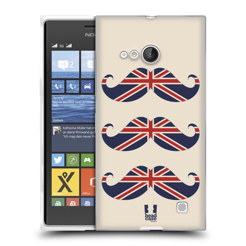 Silikonové pouzdro na mobil Nokia Lumia 730 Dual SIM HEAD CASE BRITSKÉ KNÍRY (Silikonový kryt či obal na mobilní telefon Nokia Lumia 730 Dual SIM)