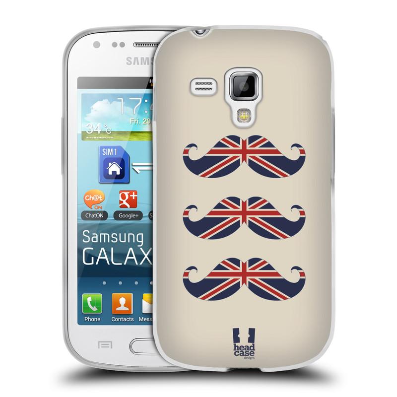 Silikonové pouzdro na mobil Samsung Galaxy S Duos HEAD CASE BRITSKÉ KNÍRY (Silikonový kryt či obal na mobilní telefon Samsung Galaxy S Duos GT-S7562)