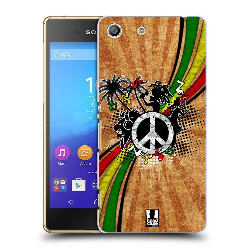 Plastové pouzdro na mobil Sony Xperia M5 HEAD CASE REGGAE (Kryt či obal na mobilní telefon Sony Xperia M5 Aqua)