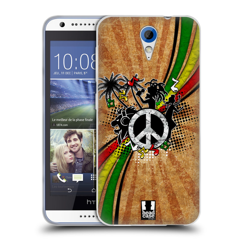 Silikonové pouzdro na mobil HTC Desire 620 HEAD CASE REGGAE (Silikonový kryt či obal na mobilní telefon HTC Desire 620)